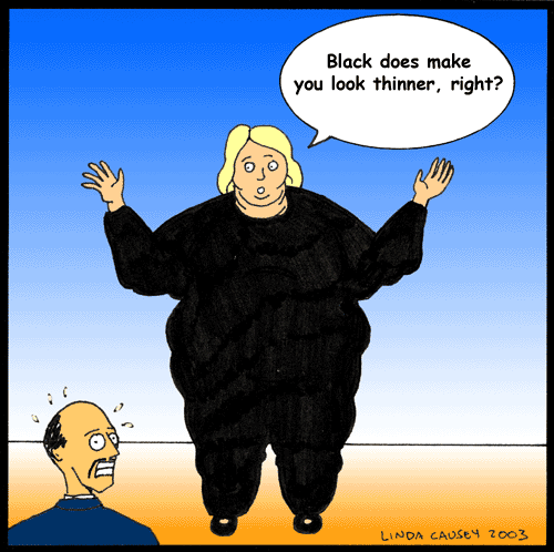 Black is slimming