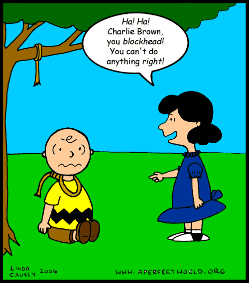 Charlie Brown can't do anything right, even suicide