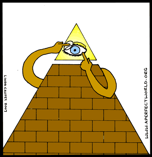 The all seeing eye puts in its contact