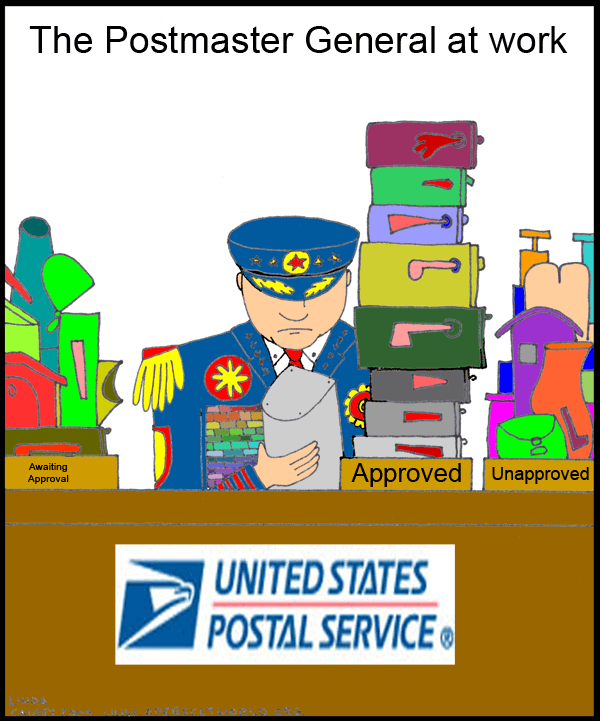 The Postmaster General at work