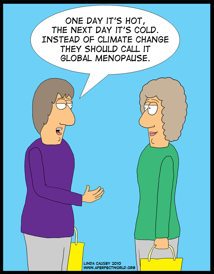 It shouldn't be called Climate Change but Global Menopause