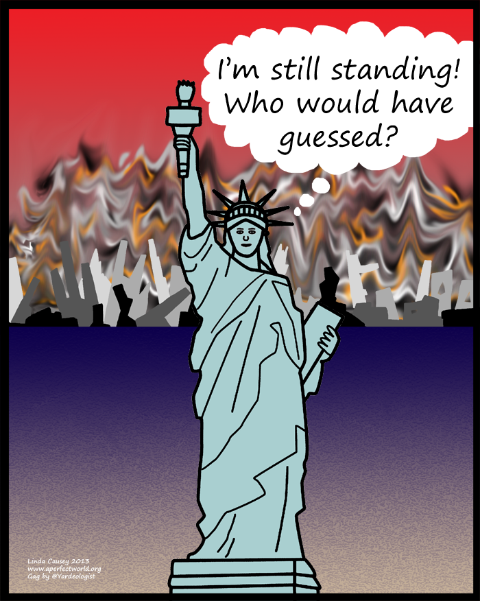 The Statue of Liberty survives the apocalypse